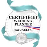 certifiee wedding planner par Jaelys