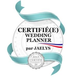 certificatino wedding planner var jaelys